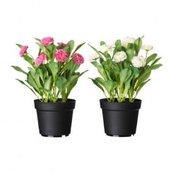 گلدان گل مصنوعی ایکیا FEJKA