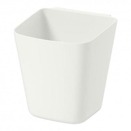 سطل آویز پلاستیکی سفید ایکیا SUNNERSTA
